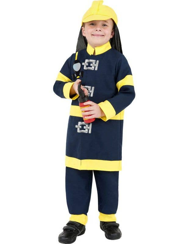 Boys Fireman Fancy Dress Costume Kids Costumes