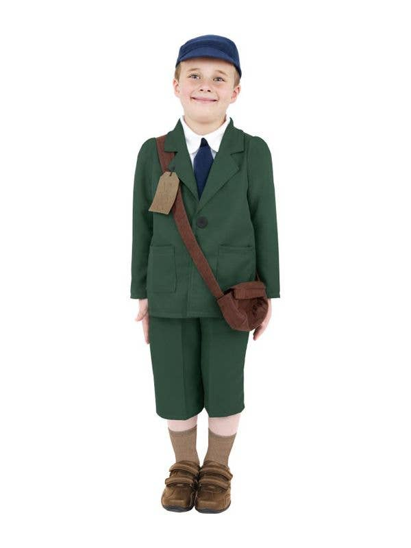 Boy's English Paperboy Fancy Dress Costume Front View