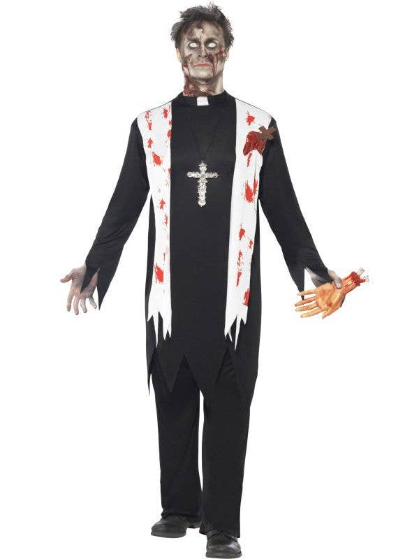 Zombie Priest Men\u0027s Halloween Costume