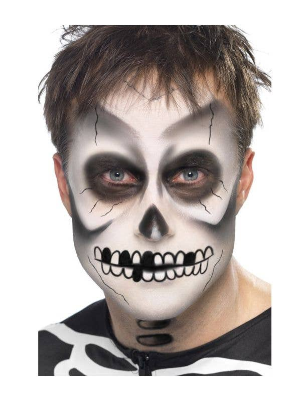Halloween Make Up Skelet.Skeleton Greasepaint Halloween Makeup Kit