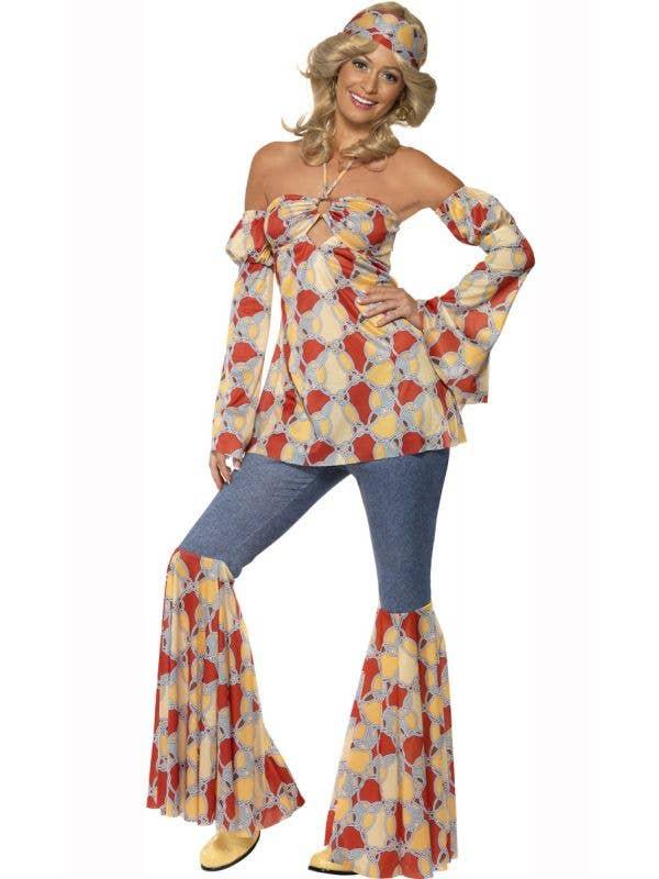 Women's 1970's Vintage Hippie Costume Main Image