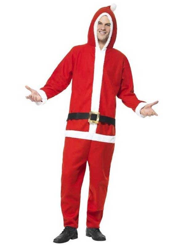 Christmas Onesie.Santa Adult S Christmas Onesie Costume