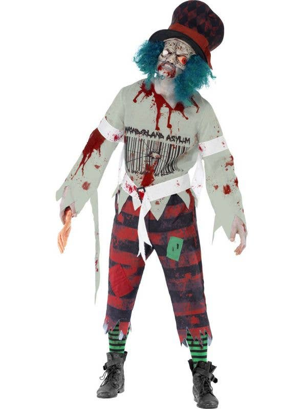 Zombie Mad Hatter Men's Halloween Costume Front