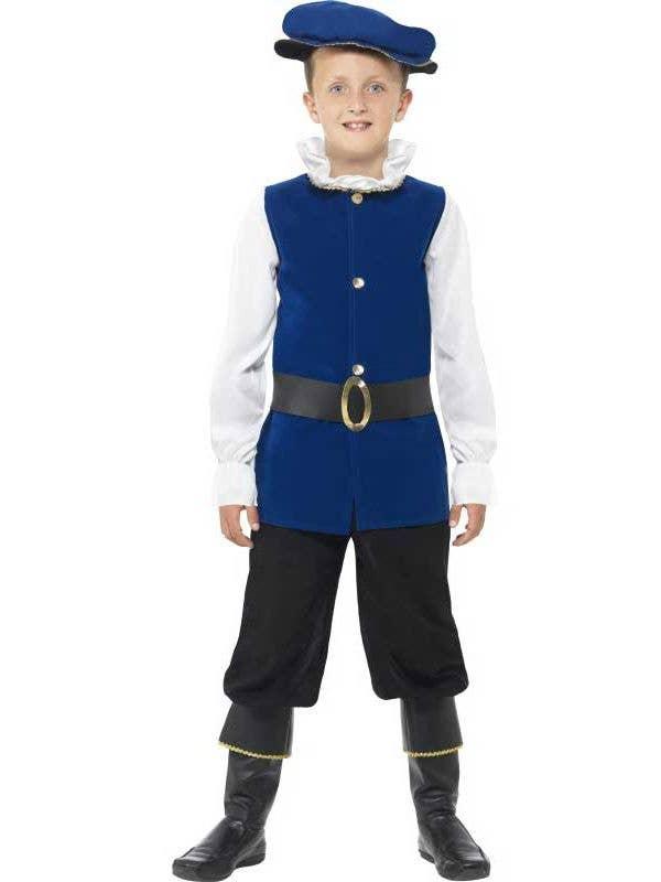 Boy's Tudor English Renaissance Book Week Costume Front View