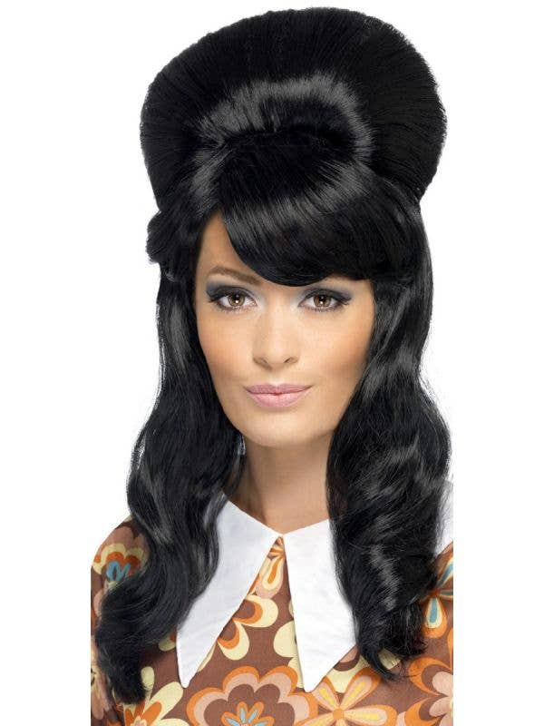 1960 s Women s Black Brigitte Bouffant Beehive Costume Wig Main Image 4fb9f792f
