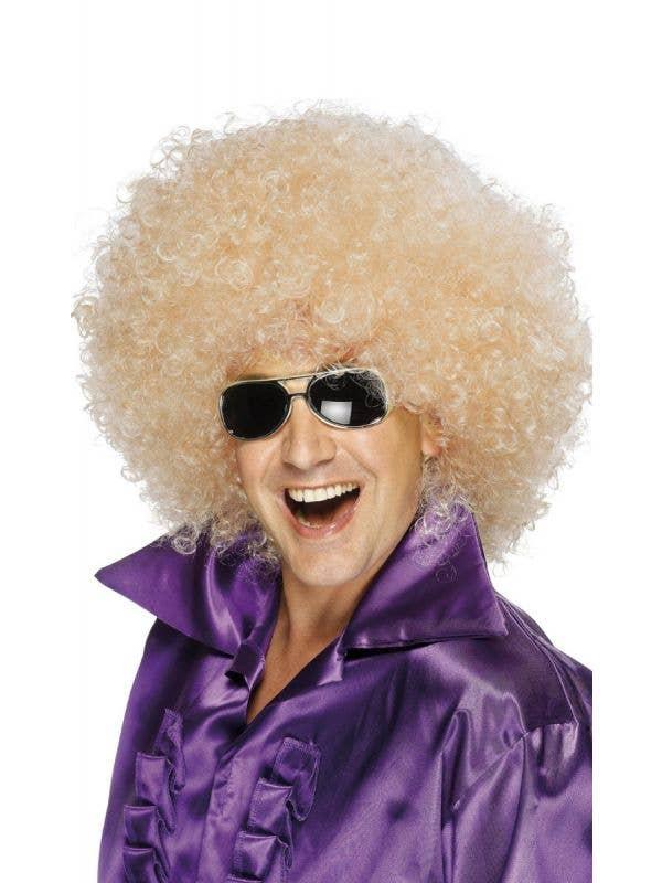 Mega Blonde Unisex Costume Afro Wig