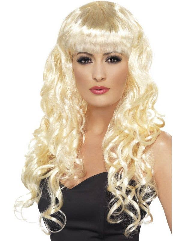 Glamour Siren Women s Long Blonde Curly Wig  08ae47eb97