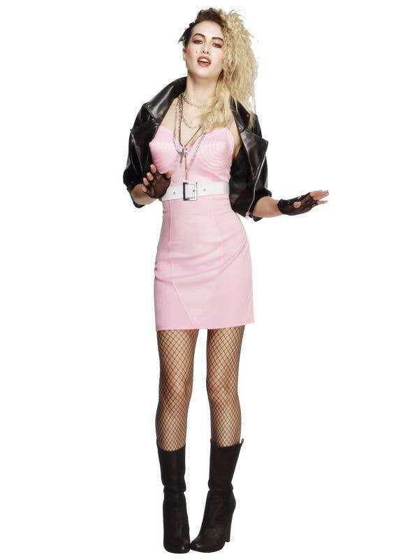 Rocker Diva 1980's Madonna Costume for Women Main Image