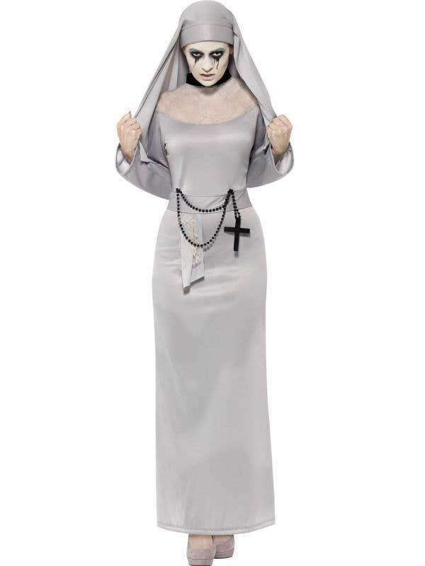 Haunted Gothic Nun Women's Halloween Costume Main Image