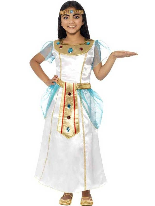 0608e7dac7b Egyptian Queen Girl s Cleopatra Costume Front View