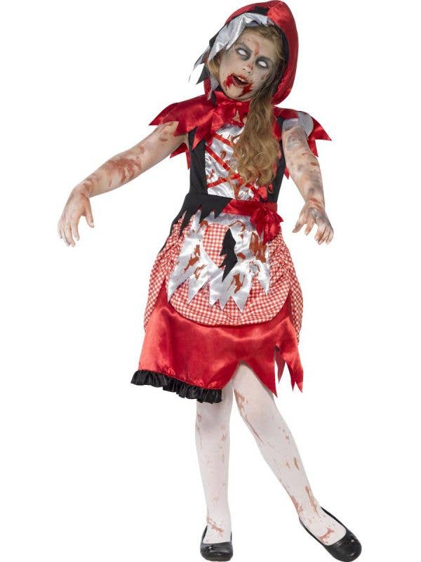 Girl's Zombie Red Riding Hood Costume Front View