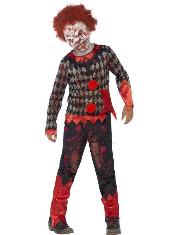 Zombie Clown Boys Scary Halloween Costume Main Image