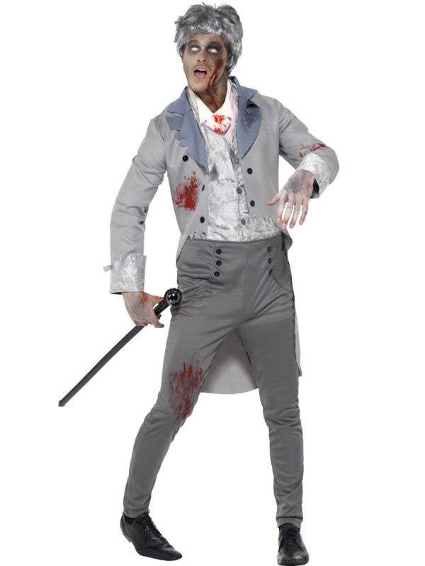 Zombie Gentlemen Men's Halloween Costume Front
