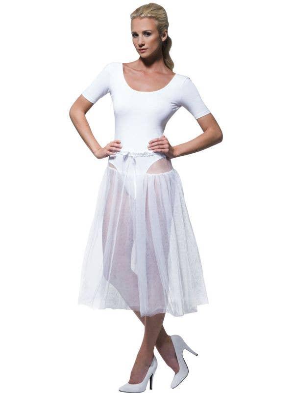 Knee Length White Tulle 1950's Petticoat
