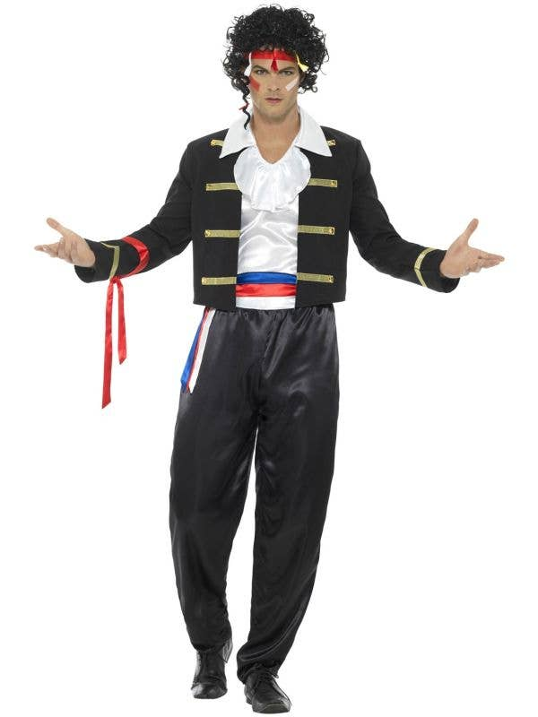 Mens 1980's New Romantic Fancy Dress Costume Front View