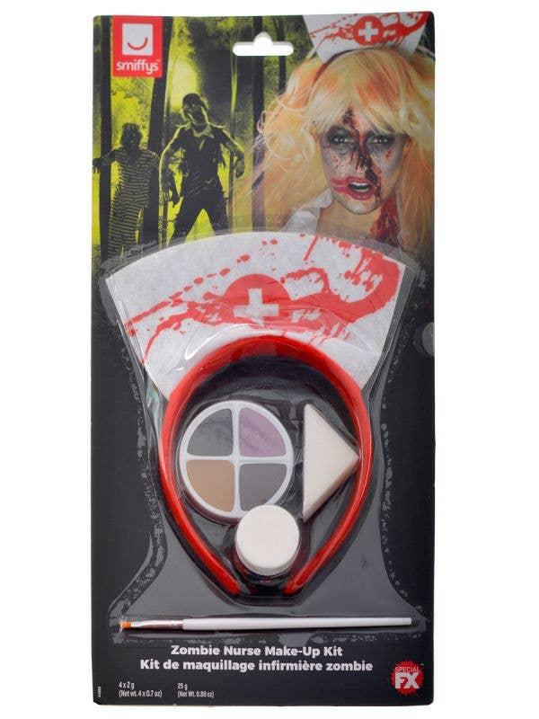 Smiffy's Zombie Nurse Halloween Costume Makeup Kit - Main Image