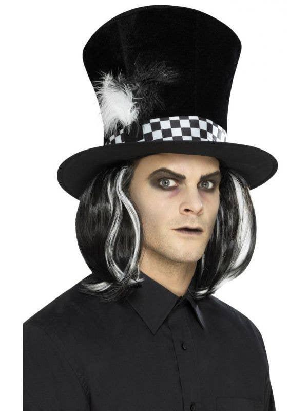 Tea Party Black Mad Hatter Halloween Hat Front Image