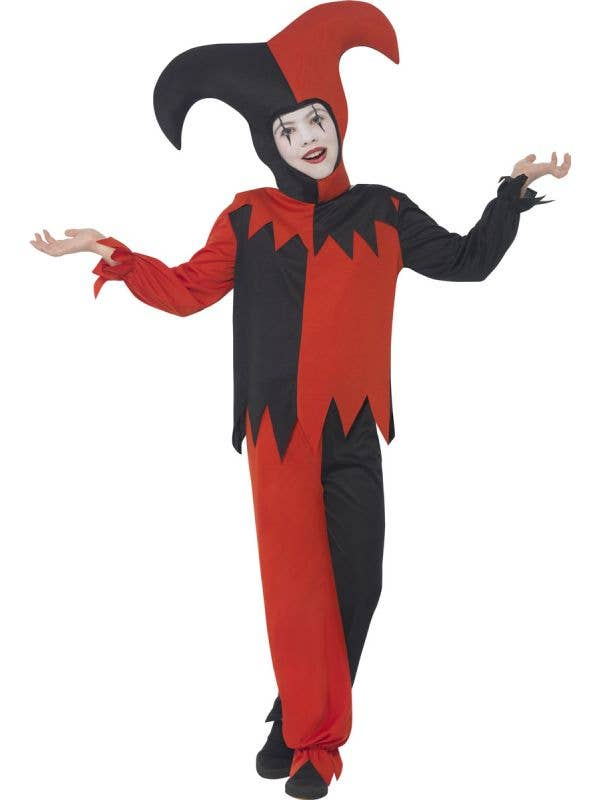 Evil Jester Boys Circus Fancy Dress Costume Main Image