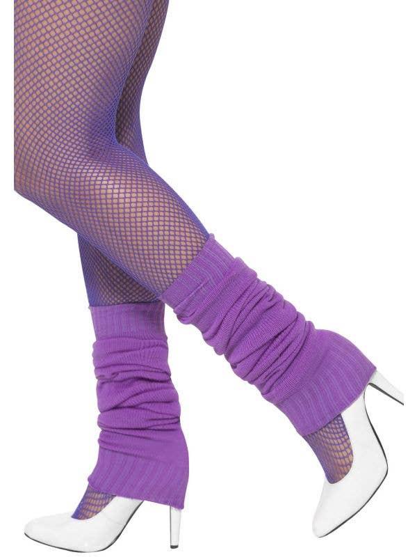 Women's Purple 1980's Leg Warmers Costume Accessory