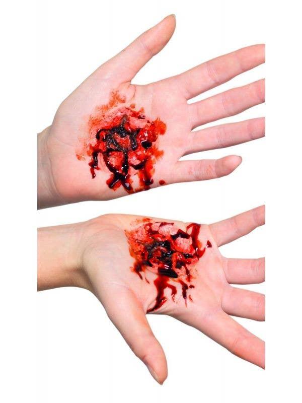 Open Flesh Stigmata Wound Prosthetic Front Image