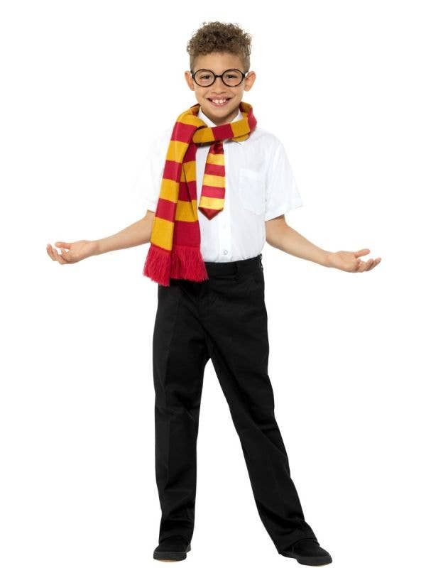 Magical Schoolboy Wizard Gryffindor Costume Accessory Kit Main Image