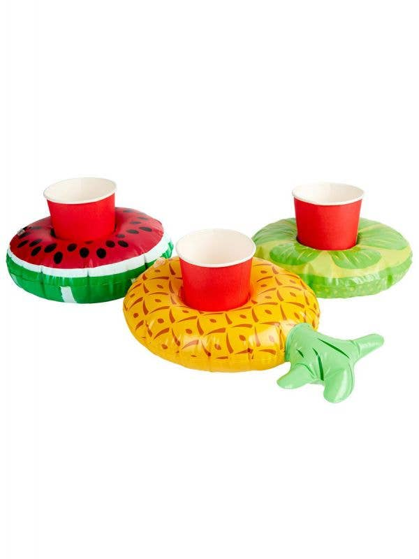 3 Pack Inflatable Tropical Drink Holders Main Image