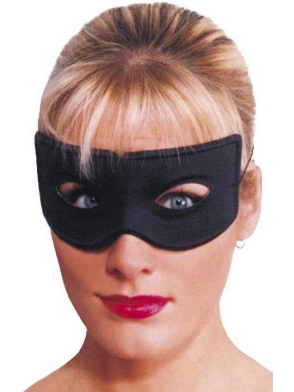 Basic Black Zorro Costume Mask Main Image