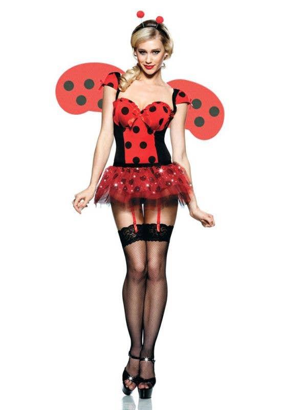 Women's Ladybug Sexy Dress Up Costume Front Image