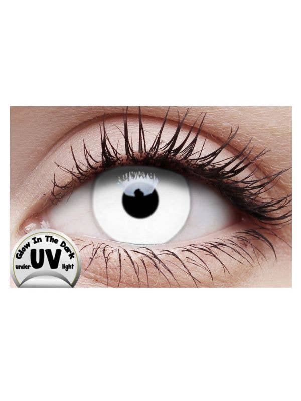 UV Reactive White Coloured Contact Lenses