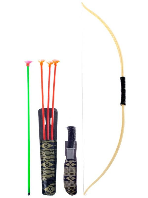 Indian Archery Bow and Arrow Costume Set - Main Image