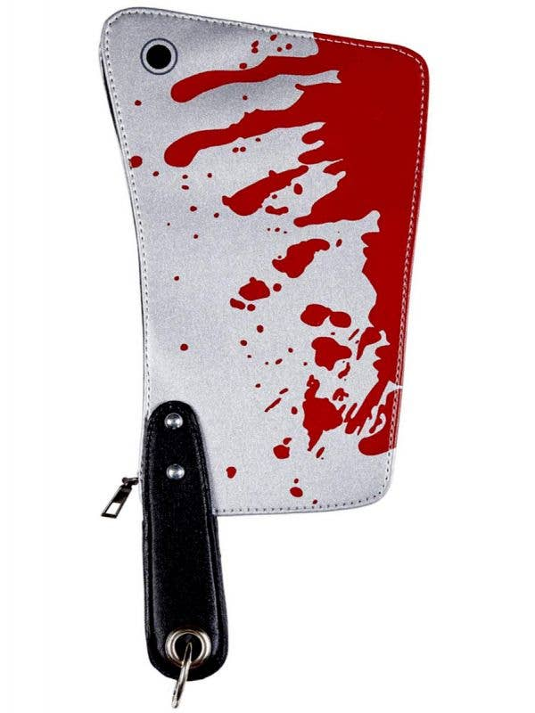 Blood Splattered Cleaver Zombie Purse Halloween Costume Accessory