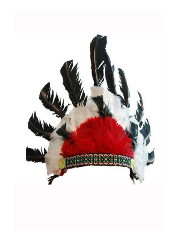 Indian Chief Feather Headdress Costume Accessory