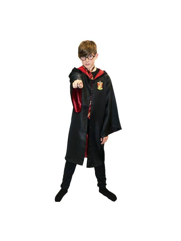 Boys Gryffindor Wizard School Robes Costume Main Image