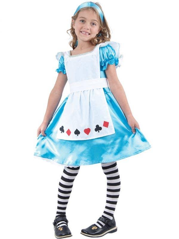 Girls Alice in Wonderland Tea Party Book Week Fancy Dress Costume Main Image
