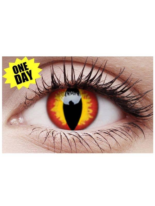 Dragon Eyes Coloured Contact Lenses Australia Costume Accessory - Main Image