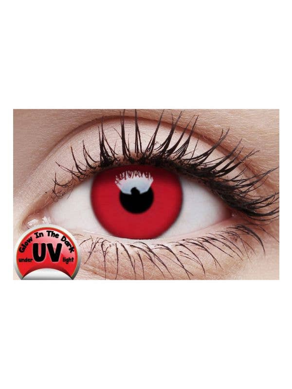 UV Reactive Bright Red Coloured Contact Lenses