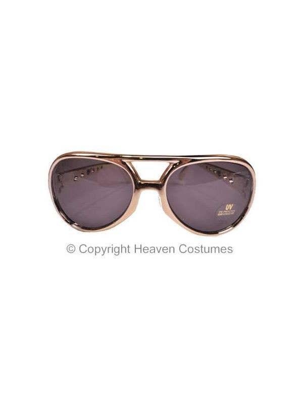 Elvis Presley Gold Framed Costume Sunglasses