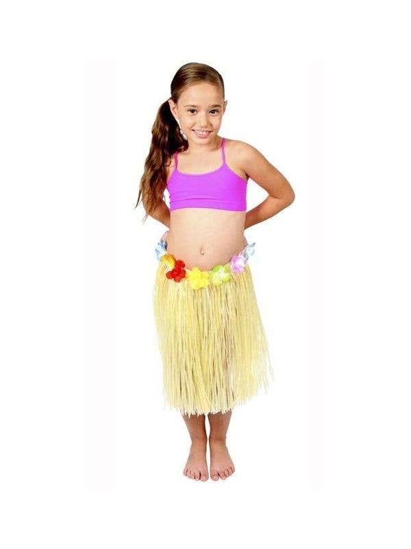 7a0d9cdb0 Girls Yellow Grass Skirt | Yellow Kids Hawaiian Hula Skirt Costume