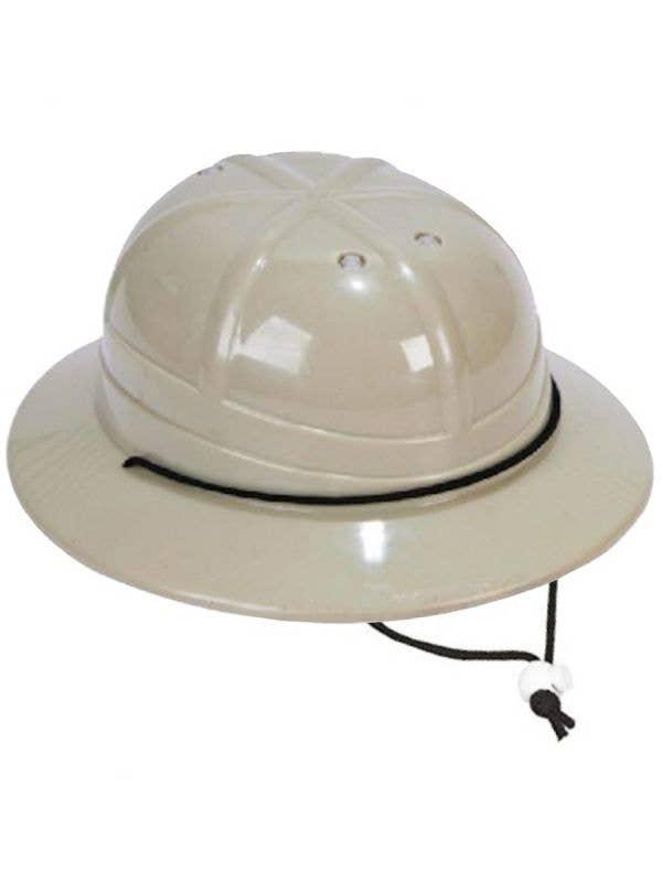 Kid's Plastic Tan Safari Pith Helmet Costume Accessory Hat