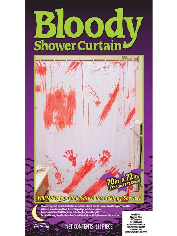 Blood Splattered Halloween Shower Curtain Decoration 1