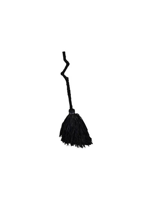 wicked witch crooked black broom halloween costume accessory