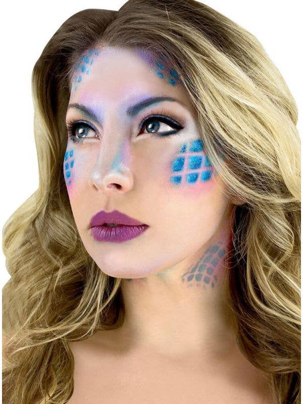 Mermaid Scale Special FX Makeup Stencil Costume Accessory Kit