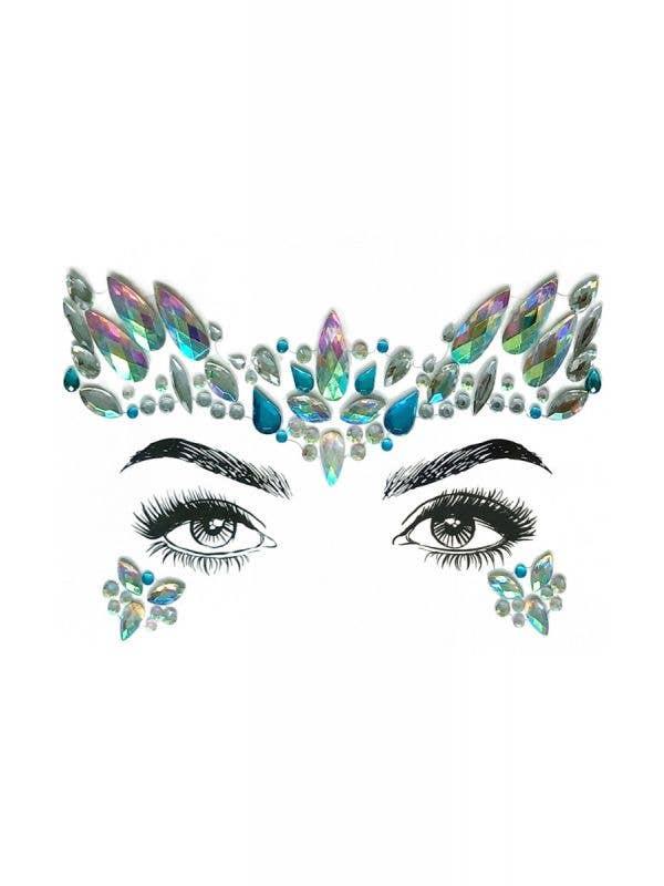 Diamond Daze Mermaid Festival Self Adhesive Face Jewels Costume Accessory Main Image