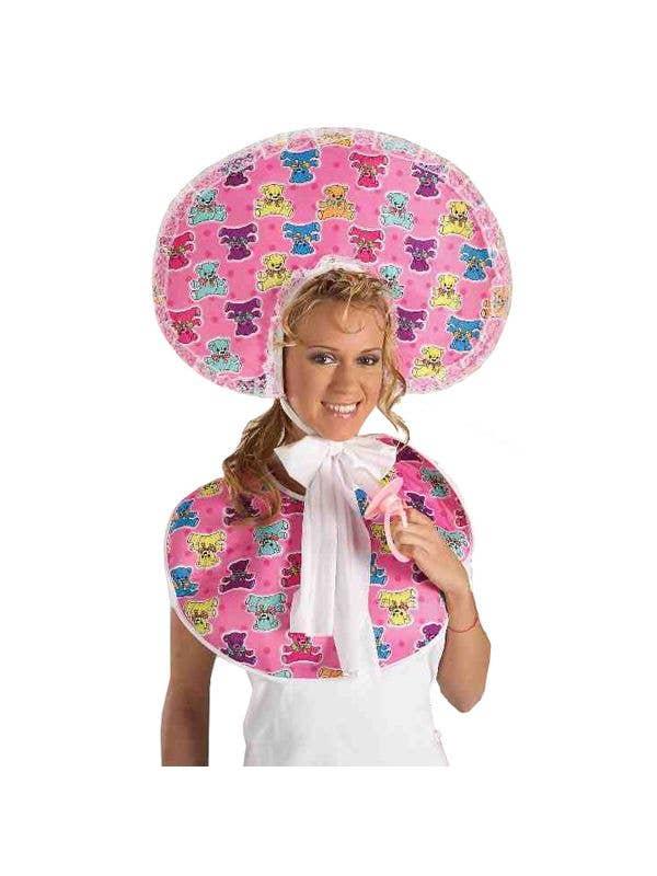 Hilarious Women s Baby Girl Bonnet and Bib Costume Kit Main Image 222c7065d