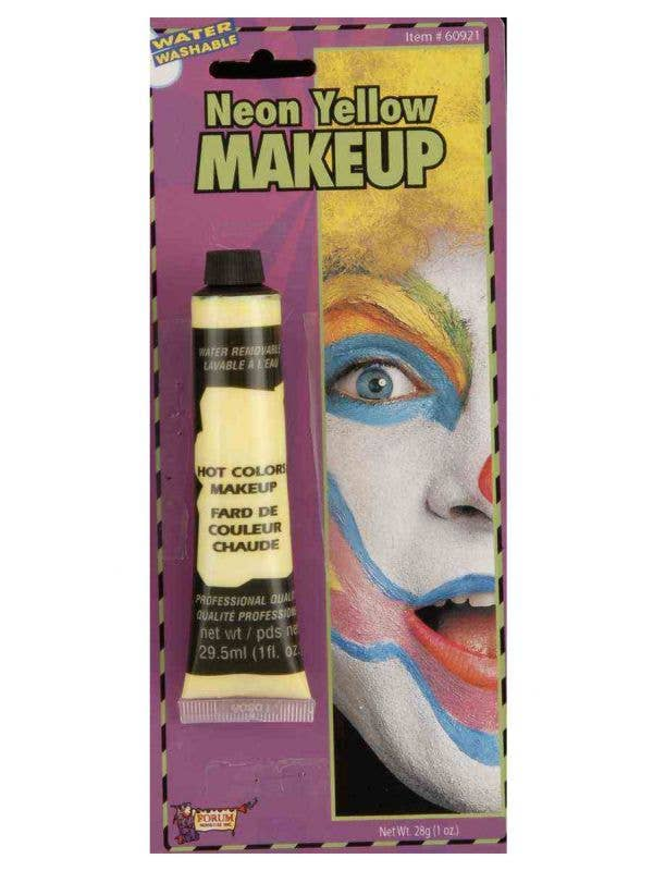 bright neon yellow face liquid foundation paint special FX costume makeup-Main Image