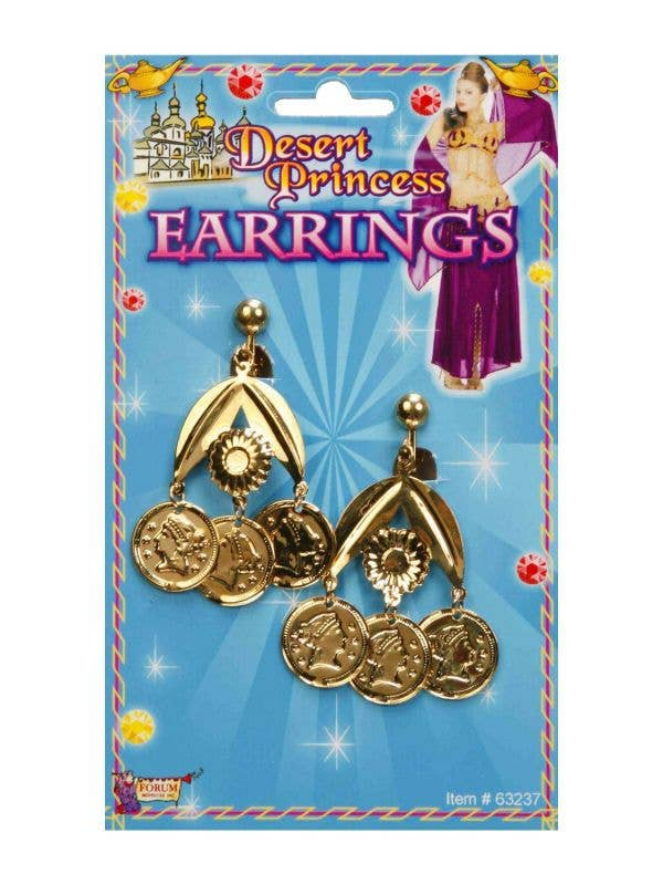 Ancient Egyptian Gold Coin Earrings Image 1