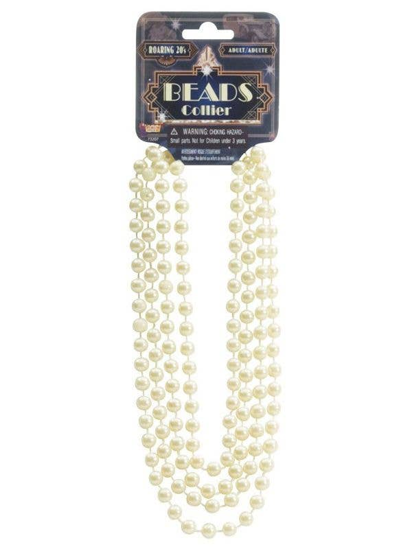 1920's Vintage Cream Coloured Flapper Beads