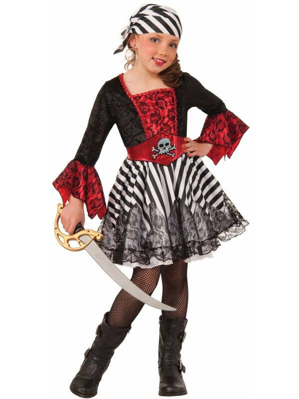 Buccaneer Miss Matey Girl's Cute Pirate Fancy Dress Costume Main Image