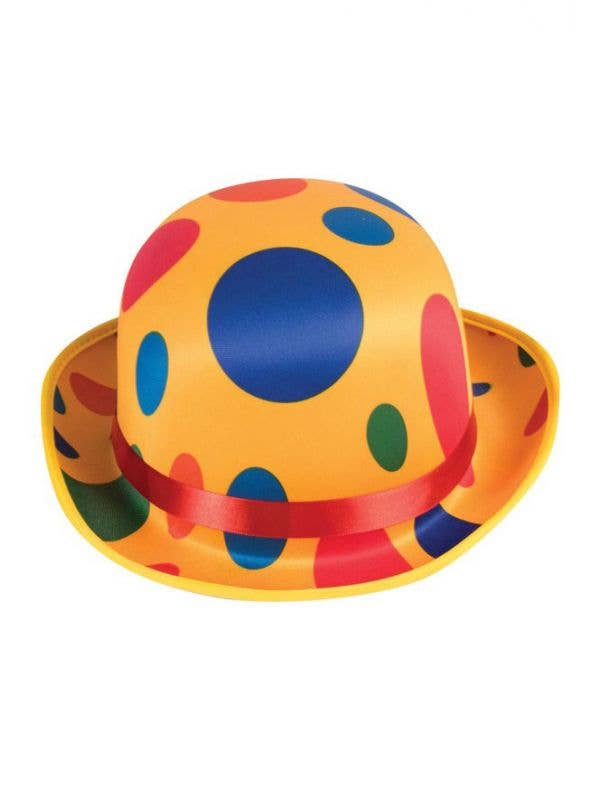 Yellow Polka Dot Circus Clown Costume Hat Accessory 923ede90bcf