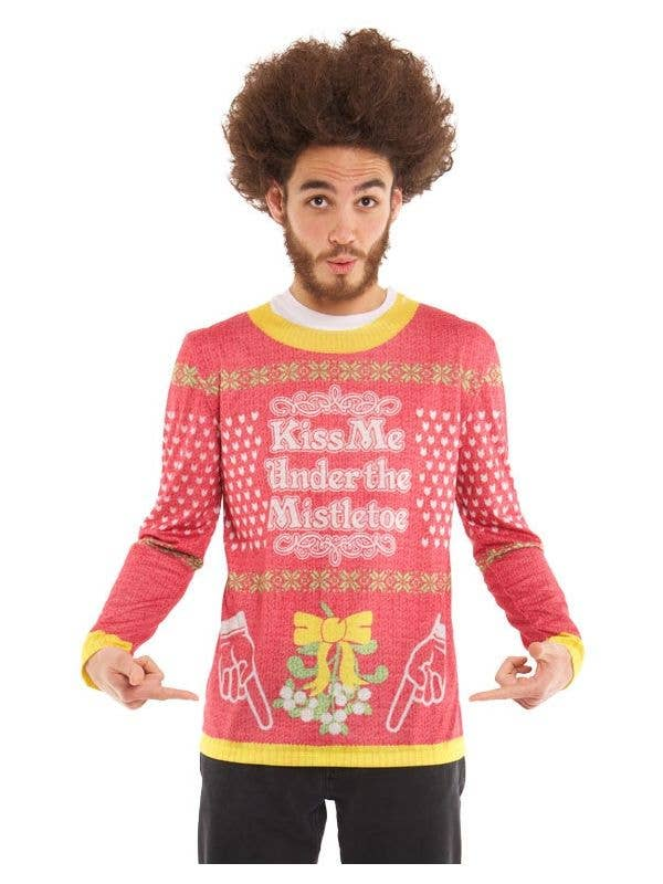 Men\'s Christmas Ugly Sweater | Faux Real Ugly Xmas Jumper T-Shirt